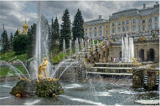 Peterhof. Great Palace und Great Cascade